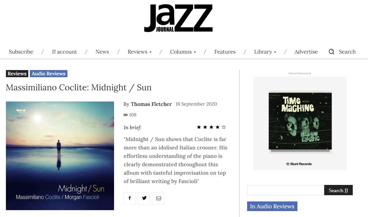 Midnight Sun incoronato da Jazz journal